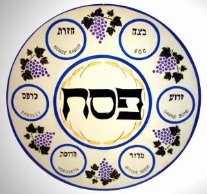 Enlarged Representation of the Seder Plate Showing the Foods Eaten at the Mean